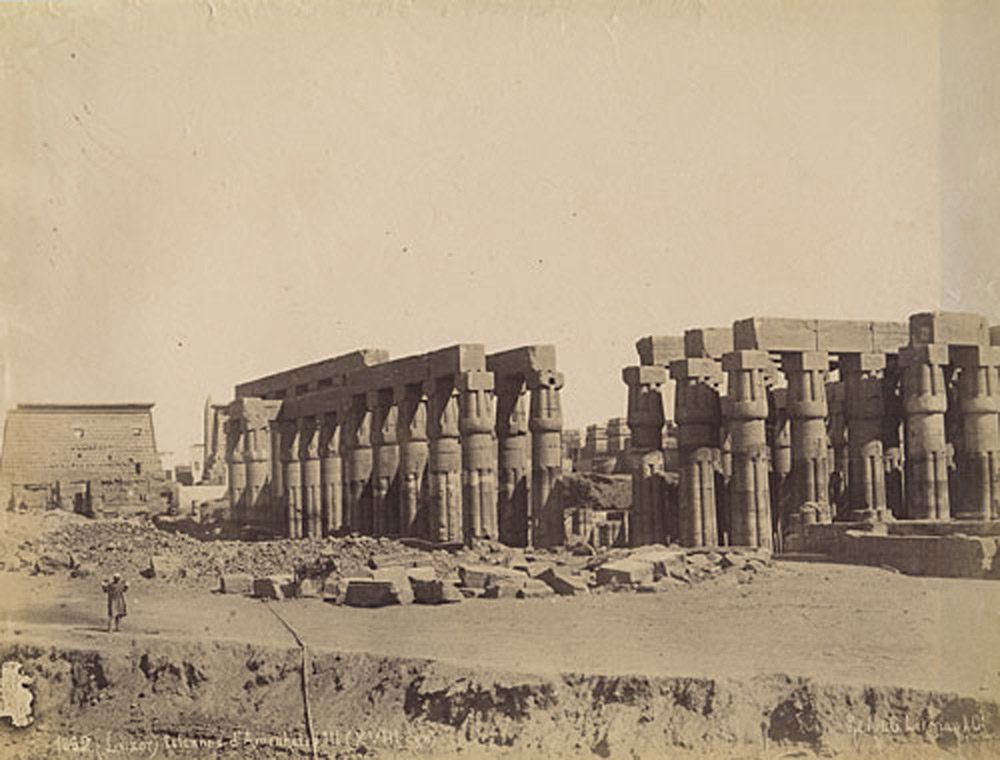 Luxor Temple (Then and Now Image)