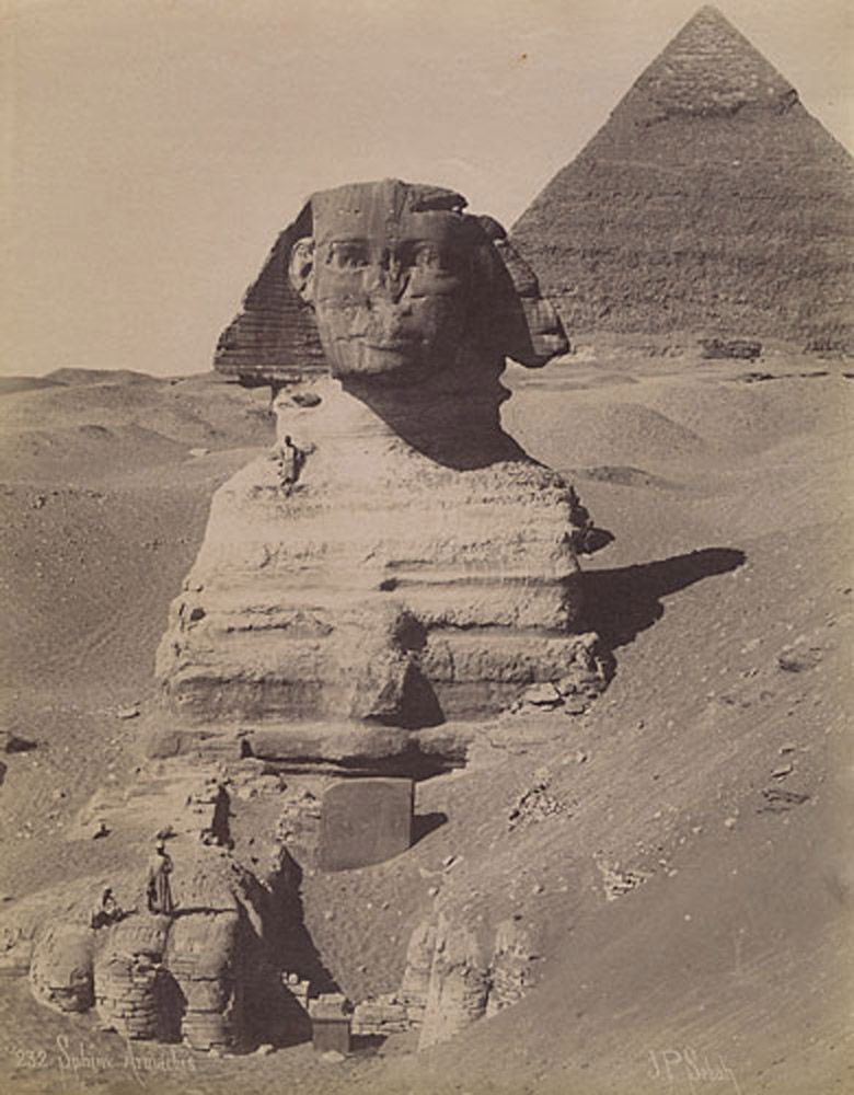 Giza & Sphinx (Then and Now Image)
