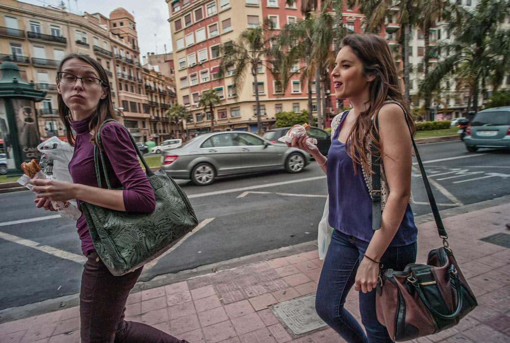 Lunch conversation - Valencia, Spain