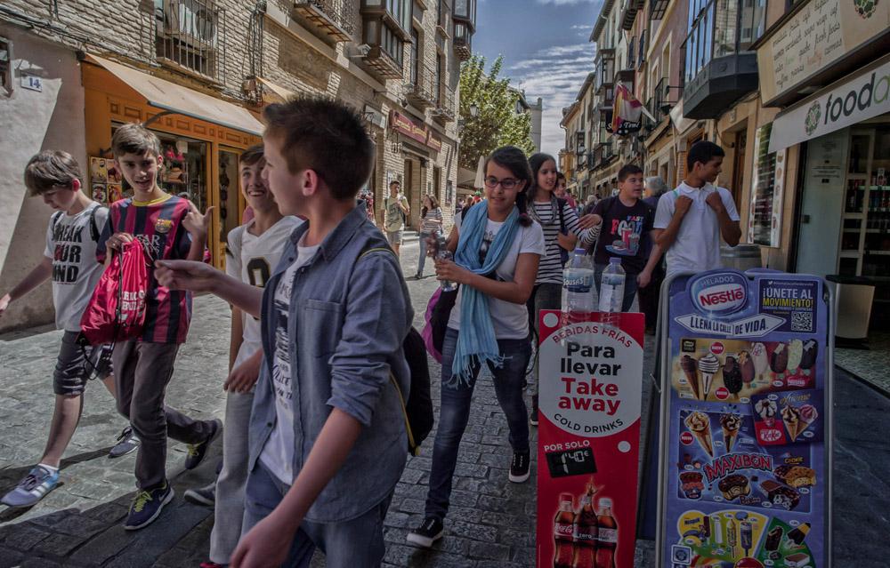 Passing the Take Away - Toledo, Spain