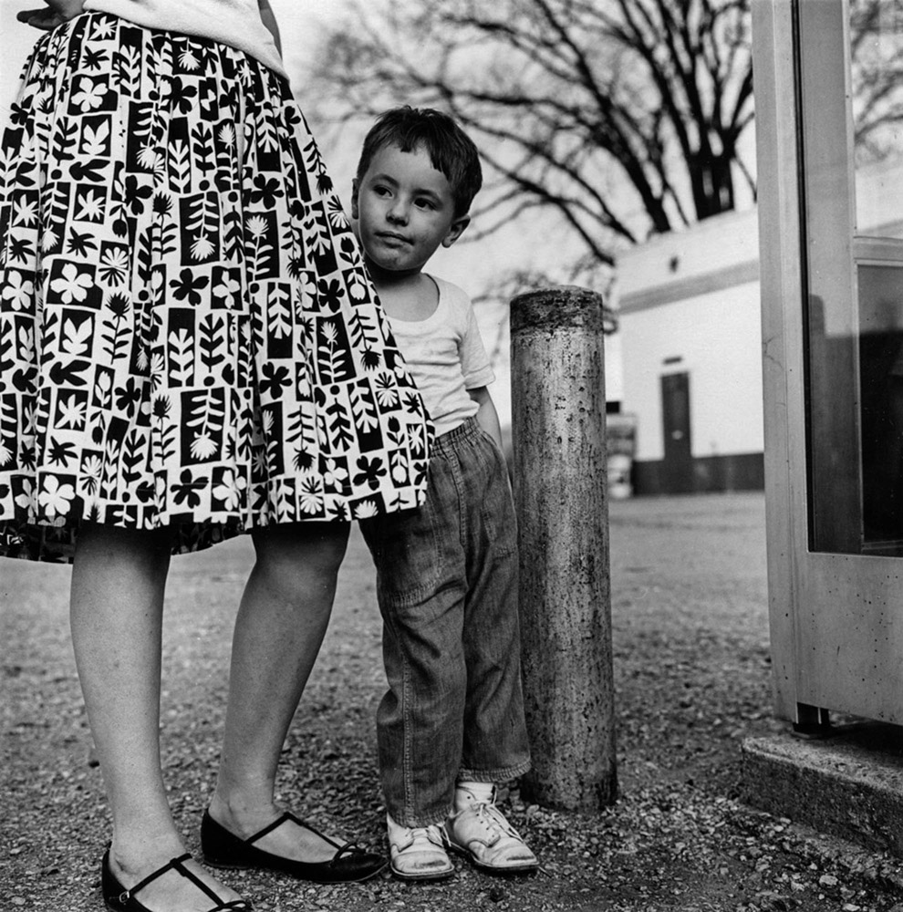 Boy with mom